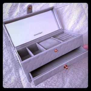 Pandora New Jewelry box Gray /Rose Gold